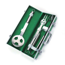 3pcs bbq football shape tool set