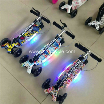 Adjustable Kids Scooter with Flash Light 3 Wheels