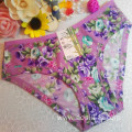 OEM wholesale China cheap bamboo fiber panty sexy women printed flowers fancy underwear 505