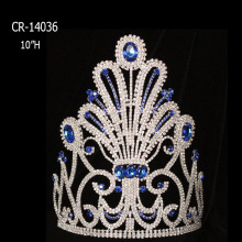 2018 Blue Rhinestone Big Pageant Crown