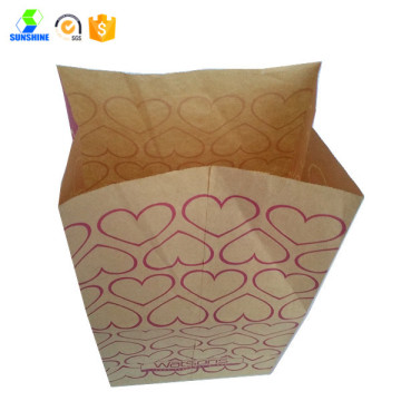 Customized kraft paper grocery bags