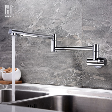 HIDEEP Wall Mount Full Copper Kitchen Faucet