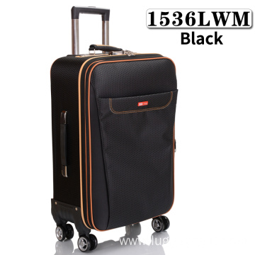 Wholesale soft  lightweight suitcases with oxford fabric