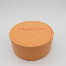 Yellow Food Package Chocolate Round Paper Box