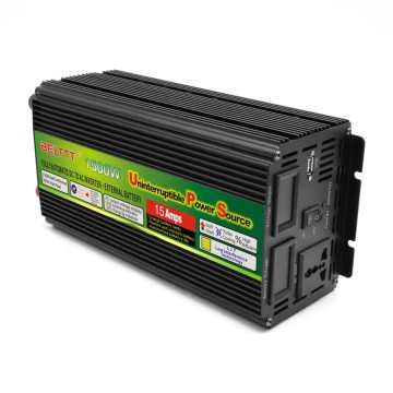 Black-Appearance practical portable UPS inverter 1500 Watt