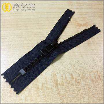 Fashion color black nickel closed end metal zipper