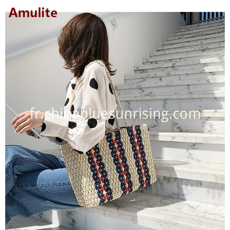 Leisure straw bag