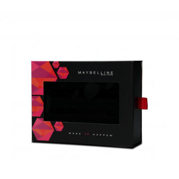 Drawer Style Cosmetic Lipstick Box With Velvet Insert