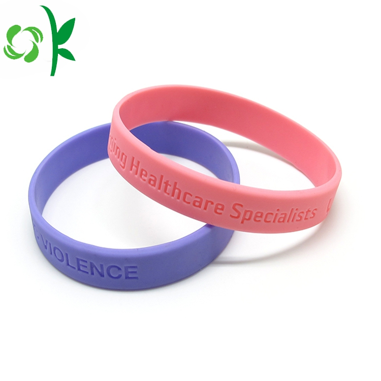 Silicone Wristbands Debossed Bangles