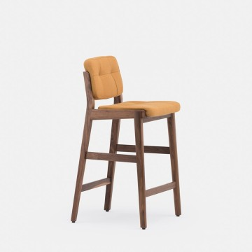 Wooden high Capo Breakfast Bar Stool