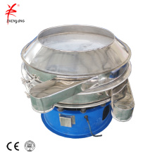 Vibrating sieve for separating liquid whey from casein