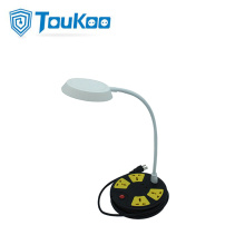 LED lamp 4-outlet universal power strip