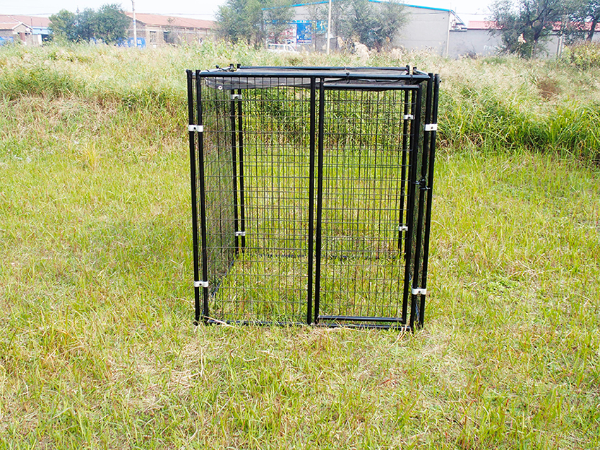 large welded dog kennel-1