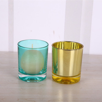 Glass Colorful Round Votive Candle Cup
