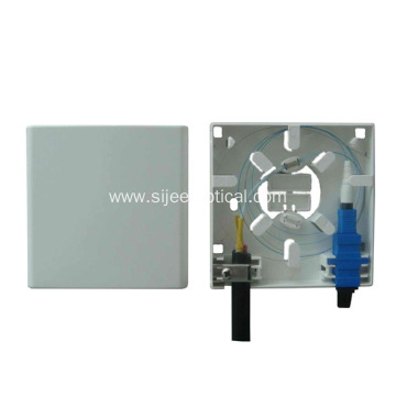 China Factories for Fiber Optic Cable Junction Box Indoor 2 ports Optic Socket/Mini Fiber Optic faceplate export to Pitcairn Manufacturer