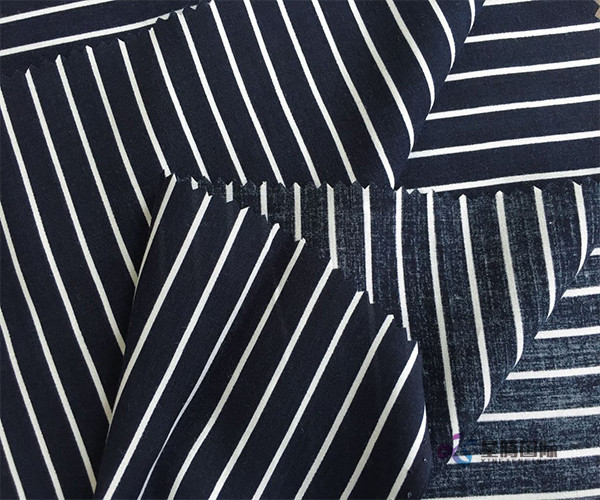 Woven Plain Stripe 100% Rayon Fabric