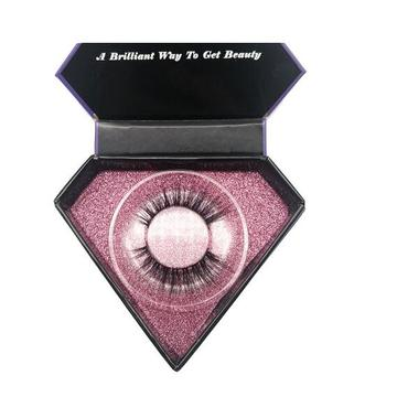 Rigid Paper Diamond Magnetic Eyelash Box Custom