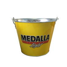 OEM manufacturer custom for Plastic Beer Ice Bucket Stainless Galvanized Tin Ice Bucket With Bottle Opener export to United States Supplier