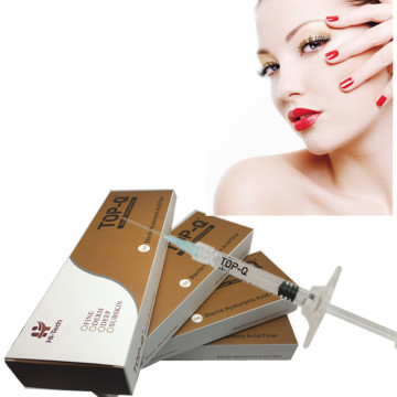 Hot Selling injectable hyaluronic acid syringe for cheek filler injection 10cc