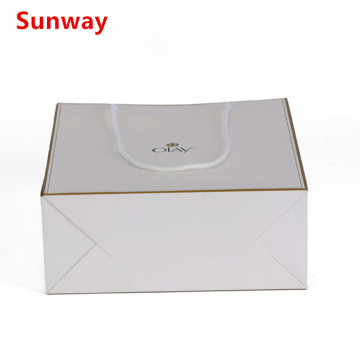 Popular white paper shopping bags