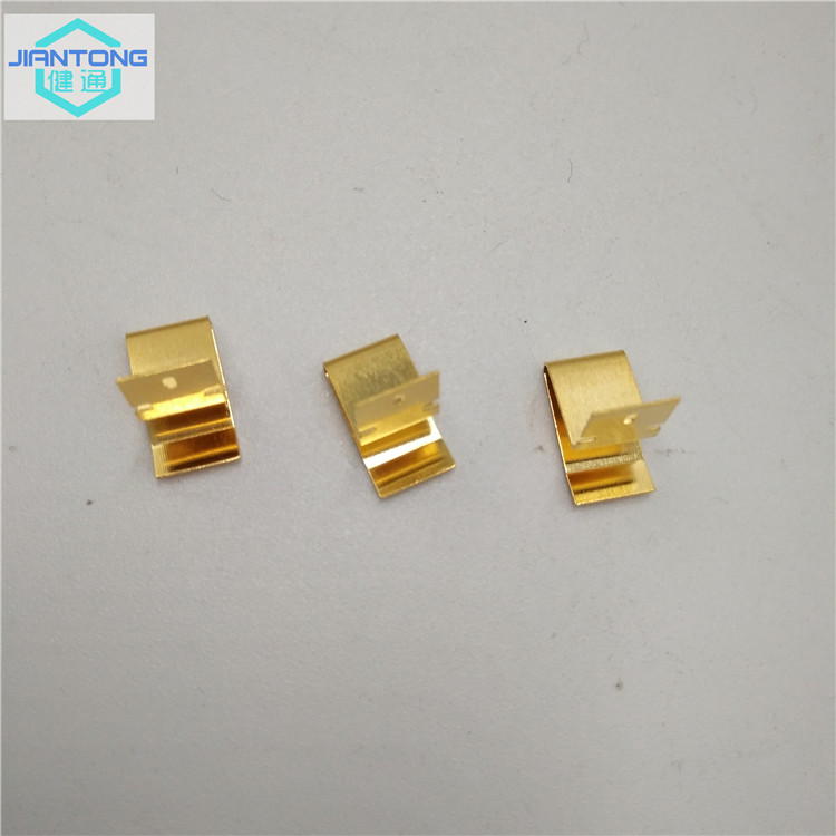 Battery Contact With Gold Plating