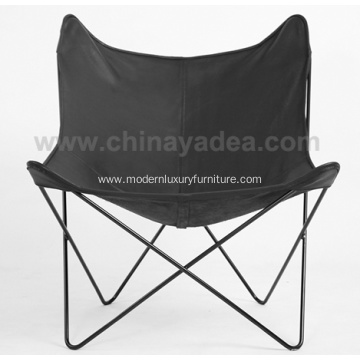 China for Comfortable Leather Lounge Chair Metal Frame Butterfly Lounge Chairs supply to Germany Exporter