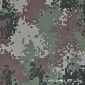 High quality fire retardant blue camouflage fabric