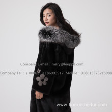 Mink Fur Reversible Coat For Women