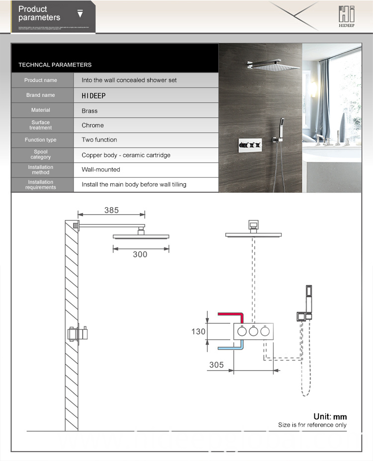 Wall Mounted Bathtub Shower Set
