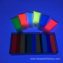 Colorful hypoallergenic face paint neon water based