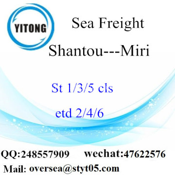 Shantou Port LCL Consolidation To Miri