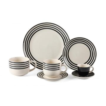 Ceramic handmade tableware plates coffee set
