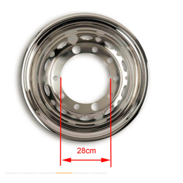 Auto Truck Stainless Steel Hub Caps Rear Axle