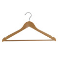Wooden Hotel Clothes Hanger with Parallel Bars