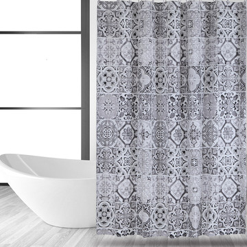 Customized for China Shower Curtain Peva,Peva Shower Curtain,Clear Shower Curtain Supplier Shower Curtain PEVA Ceramic Tile supply to Western Sahara Factories