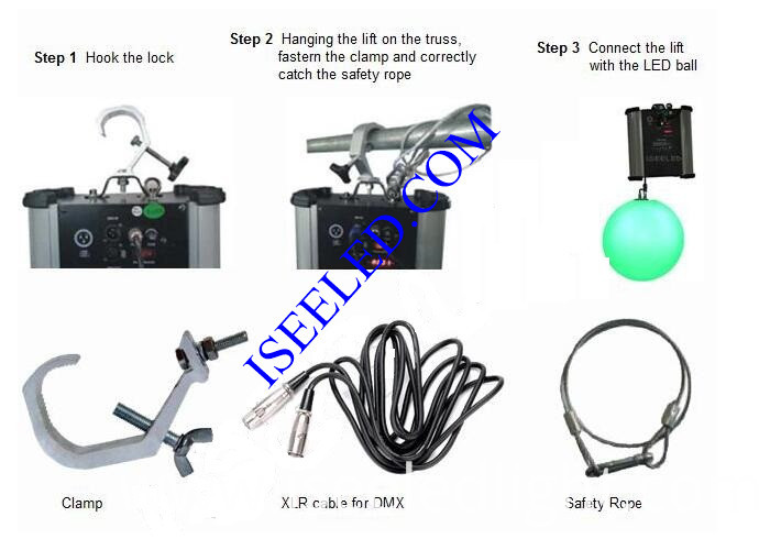 DMX512 Kinetic LED Ball