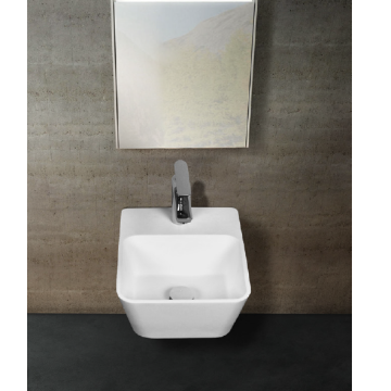 OEM/ODM Factory for for China Supplier of Back To Wall Bathtub,Indoor Back To Wall Bathtub,Rectangular Bathtub,Acrylic Back To Wall Bathtub Stone resin Irregular wall-hung washbasin export to Saint Lucia Exporter
