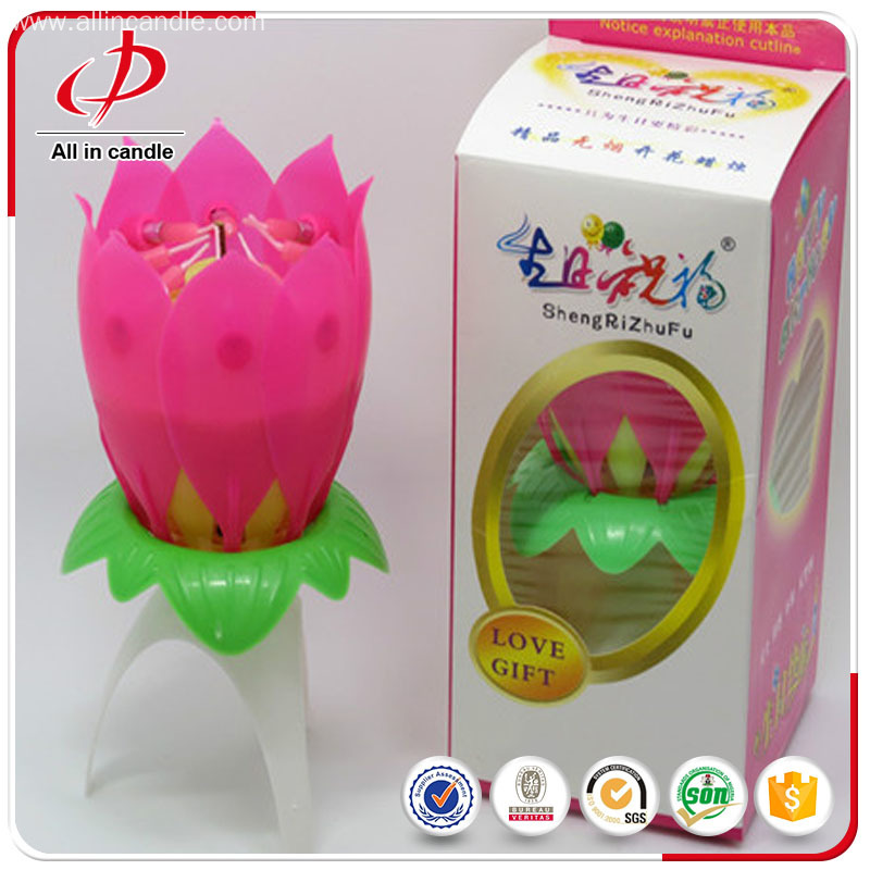 Craft art birthday flower candle as gift