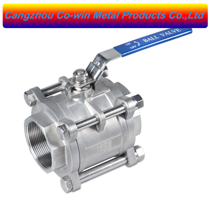 1000 wog stainless steel  ball valve 304