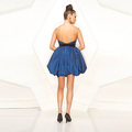Lovely Ball Gown Sweetheart Strapless Mini Taffeta Ruffled Sequin Belt Cocktial Dress