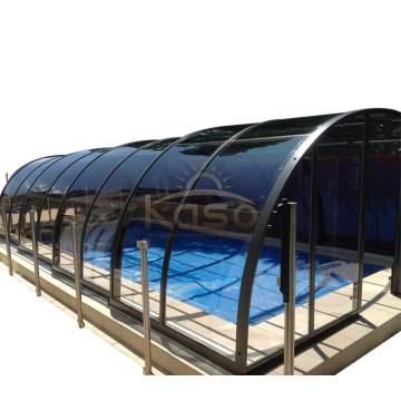 Factory directly sale for Polycarbonate Swimming Pool Enclosures Retractable Cover Swimming Pool Enclosure export to Switzerland Manufacturers