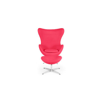 Replica designer egg shaped chair with ottoman