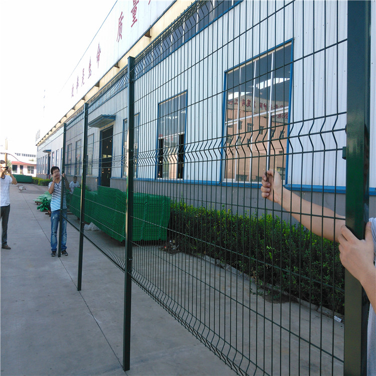 4.0mm polyester coating bending welded wire mesh fence