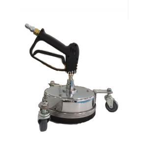 Surface Cleaner with Wheel and Gun