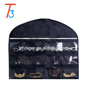 Popular Quality PU cosmetics bag case lace black cheap makeup bag