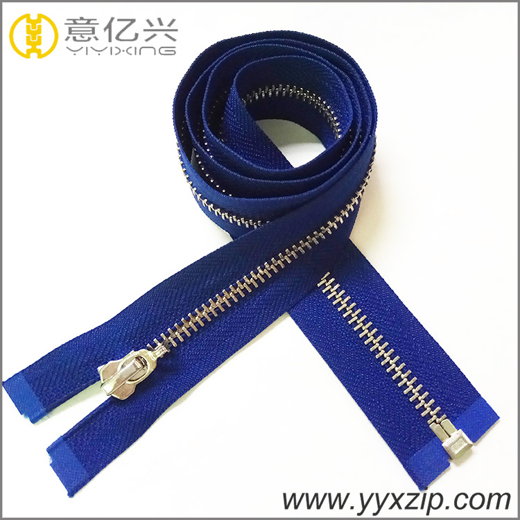 Polished Smooth Teeth Metal Zipper