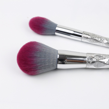 5 Pieces Shiny Plastic Handleand Makeup Brush Kit