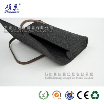 Good quality 100% polyester felt glasses bag