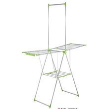 China for Hanging Clothes Rack 2-Tier Portable Cloth-Dry Stand supply to Italy Manufacturer