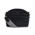 Trendy Crocodile Bag Wide Strap Crossbody Shell Bag